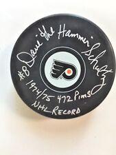Philadelphia Flyers Dave The Hammer Schultz Autographed Puck