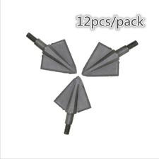 12x 125Gr Arrowhead Broadhead Tip Point Wooden Carbon Arrow Bow Archery Hunting