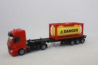 SIKU 3922 MERCEDES BENZ AROCS Camión con tanque Container Peligro 1:50 NUEVO