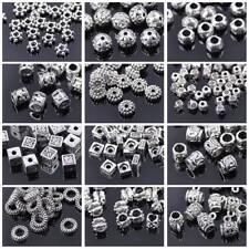 100pcs Tibetan Silver Metal Loose Spacer Beads Bulk Lot 48 STYLES for Choice