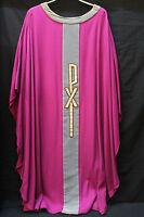 Casel gotisch Messgewand modern sakral Kirche violett Motiv: PX