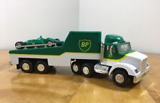 1993 BP Toy Race Car Carrier Truck Trailer With Lights - No Box Pre-Owned