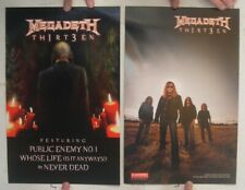 Megadeth Poster Promo Th1rt3en Thirteen 13 Album 2-Sided Megadeath