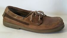 SPERRY TOP-SIDER 0777115 Mens 12 M Boat Shoes Slip On Casual Brown 2 eye Leather