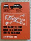 VTG Autopress Austin Morris MG Riley 1100,1300 1968-73 Workshop Manual book,Ball