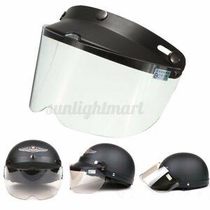 Universal Visier Helmvisier Klappvisier 3-Snap Schutzschild Motorrad Helm  1X