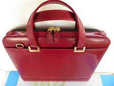 Monarch Planner Binder 7 Ring Leather Burgundy Fits Franklin Covey Zip Handles