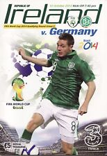 2012 Republic of Ireland v Germany - World Cup Qualifier Programme