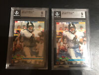 2 Brett Favre 1991 Topps Stadium Club RC #94 - BGS 9 MINT Packers Rookie Farve!