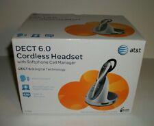 AT&T TL7910 DECT 6.0 Cordless Headset , Silver Carbon Fiber