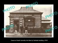 OLD LARGE HISTORIC PHOTO OF LAMEROO SA, VIEW OF THE BANK OF ADELAIDE c1910