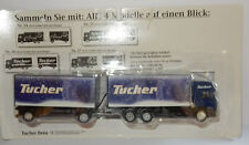 GRELL HO 1/87 CAMION REMORQUE TRUCK TRAILER MAN F2000 TUCHER BEER BIERE IN BOX