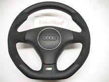 AUDI A3 A2 A4 B6 A6 A8 TT S4 S-Line Alcantara flat bottom custom steering wheel