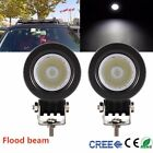 2X 10W Cree LED Work Light Flood Offroad Driving Fog Lamp Motorcycle 4WD UTE 12V