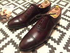 Peal & Co Crockett & Jones Size 10 US 9 UK Burgundy Oxford not Edward Green