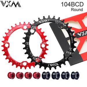 104BCD MTB MTB Bike Chainring bolts Round Narrow Wide Chain Ring 30/32/34/36/38T