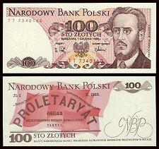 Polonia - Poland  100 zlotych 1-6-1988 Pick 143e  SC = UNC