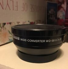 Canon WD-58 Lens Wide-Converter 0.7X58 For photo & video