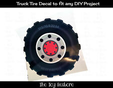 The Toy Restore Truck Tire Replacement Stickers Fits Any Outdoor Diy Project