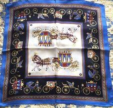 21'in Small Vintage Style Square 100% Silk Scarf Women Neckerchief Shawl Wrap