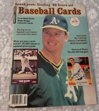Baseball Cards Magazine February 1988 Mark McGwire Cover