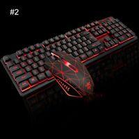 Ergonomic USB LED Backlit Gaming Keyboard Mouse Set For PC Laptop PS4 Xbox Win10