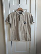 Newcastle United Official Club Youth 11-12 Yrs Stone Classic Tipped Polo NWT