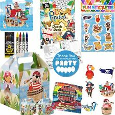 Boys Girls Pirate Birthday Party Bags Boxes Pre Filled Kids Loot Favours Goodies