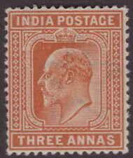 India EDVII 1902 SG127 3a Orange-brown UM CV£10+