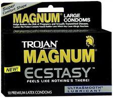 TROJAN MAGNUM Ecstasy Condoms Ultrasmooth Lubricant Lar