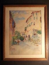 HAMELET Fernand Aquarelle 1951 Village de FAUCON Vaucluse 84 Provence Midi Sud