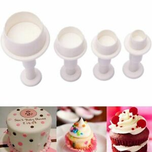 Cookie Cake Cutter Mold Round Circle Biscuit Sugar Plunger Fondant Craft Decor