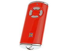 Handsender Hörmann HSS 4 BS -BiSecur 868MHz, Rot glanz, mit verchromten Kappen