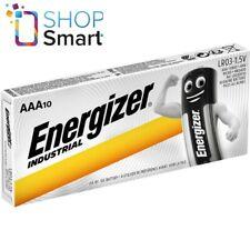 10 ENERGIZER AAA ALKALINE LR03 BATTERIES 1.5V INDUSTRIAL MICRO MN2400 AM4 E92