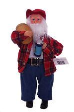 Drunk Santa Claus Beer Barrel Stein Bar Statue Brew Pub Christmas Figurine NEW