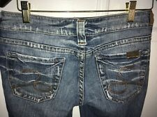 SILVER JEANS Women's Size 27 x 33 Tuesday Boot Cut Dark Wash