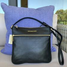 Michael Kors Bedford Leather Flat Crossbody bag Black Medium~NWOT!