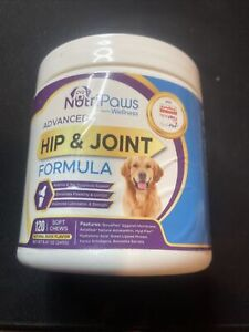 NutriPaws Advanced Hip & Joint Formula 120 Soft Chews Exp 07/2021