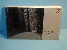 99 1999 Acura SLX owners manual