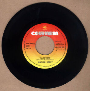 """PHILIPPINES:MARIAH CAREY - I'll Be There, 7"""" 45 RPM,rare,Different Name Print"""