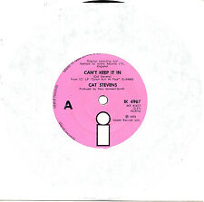 """CAT STEVENS - CAN'T KEEP IT IN - RARE NEW ZEALAND PRESSING 7"""" 45 RECORD 1973"""