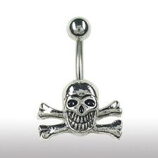 Bauchnabel Piercing Schmuck mit Totenkopf Top Angebote Gothic Skull