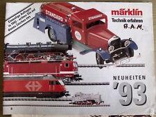 Catalogo MARKLIN in scala H0 novità 1993 - DEU -  [TR.4]