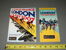 Tour de France - 2007 London Start Program & Travel Information Booklets