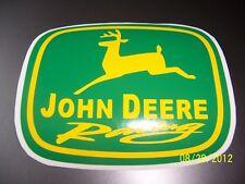 "1- 4"" X 5"" John Deere Racing (New Green and Gold) Vinyl Sticker"