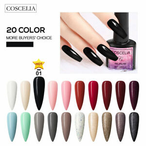 Coscelia Soak Off Gel Nail Polish Kit 20 color Varnish Lasting Nail Art Tool Set