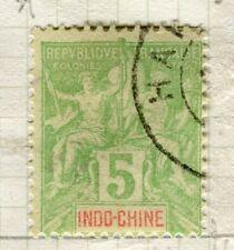 FRENCH INDO-Chine 1890s Tablet tipo di problema VALORE USATO 5c.