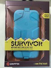 Griffin Survivor Case + Belt Clip for iPod touch 5th / 6th Gen Pool Blue