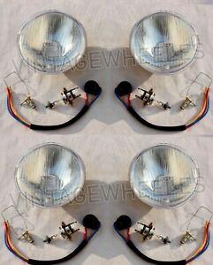 For Rolls Royce Corniche Silver Shadow Complete headlights Kit Set 4x RHD Pilot
