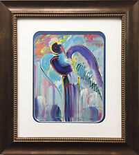 """Peter Max """"Angel 1990"""" Newly CUSTOM FRAMED Print Art POP psychedelic Neo Deco"""